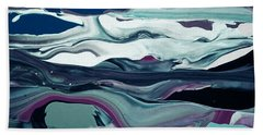Bath Towel featuring the painting Art Abstract by Sheila Mcdonald