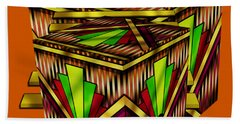 Art Deco Cubes 2 - Transparent Hand Towel by Chuck Staley