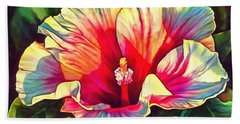 Art Floral Interior Design On Canvas Bath Towel