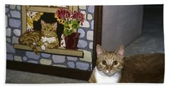 Art Imitates Life Hand Towel by Sally Weigand
