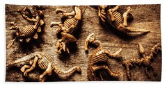 Art In Palaeontology Bath Towel