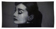 Art In The News 98-audrey Hepburn Bath Towel