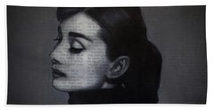 Art In The News 98-audrey Hepburn Hand Towel