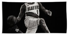 Art In The News- Lillard Hand Towel