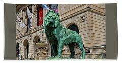 Art Institute Of Chicago Lion - Northside # 2 Bath Towel