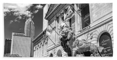 Art Institute In Chicago Black And White Hand Towel