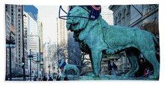 Art Institute Of Chicago Lions Bath Towel