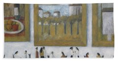 Art Is Long, Life Is Short Bath Towel by Glenn Quist