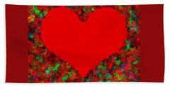 Art Of The Heart Hand Towel by Anton Kalinichev