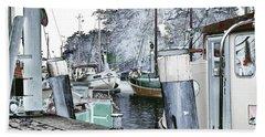 Art Print Boat 2 Hand Towel