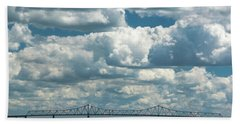 Arthur Kill And Outerbridge Crossing Hand Towel