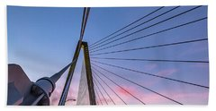 Arthur Ravenel Jr. Bridge Light Trails Bath Towel