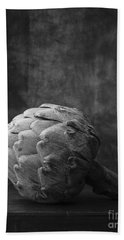 Artichoke Black And White Still Life Hand Towel