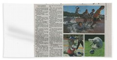 Article On Action Photography Bath Towel
