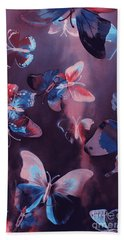 Artistic Colorful Butterfly Design Hand Towel