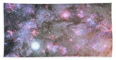 Bath Towel featuring the digital art Artist's View Of A Dense Galaxy Core Forming by Nasa