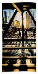 Artsy Chicago Bridge Scene  Bath Towel