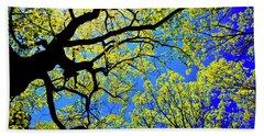 Artsy Tree Canopy Series, Early Spring - # 01 Bath Towel