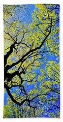 Artsy Tree Canopy Series, Early Spring - # 02 Bath Towel