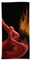 In Flame Bath Towel