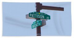 Broad And Pattison Where Philly Sports Happen Bath Towel