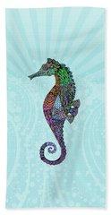 Electric Gentleman Seahorse Hand Towel by Tammy Wetzel