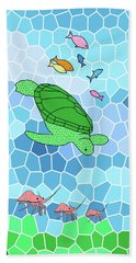 Turtle And Friends Bath Towel by Methune Hively