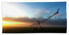 Hand Towel featuring the photograph Sunrise Sprinkler by Bill Kesler