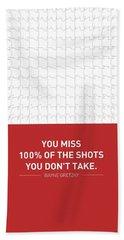 Wayne Gretzky Sports Quotes Poster Bath Towel