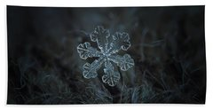 Bath Towel featuring the photograph Snowflake Photo - Vega by Alexey Kljatov