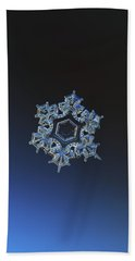 Bath Towel featuring the photograph Snowflake Photo - Spark by Alexey Kljatov