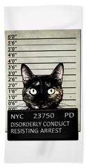 Kitty Mugshot Bath Towel