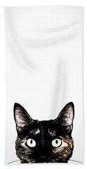 Peeking Cat Hand Towel