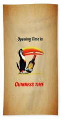 Opening Time Is Guinness Time Bath Towel