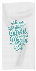 Success Inspirational Quotes Poster Hand Towel