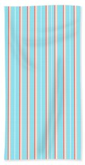 Blue Stripe Pattern Hand Towel