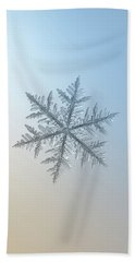 Bath Towel featuring the photograph Snowflake Photo - Silverware by Alexey Kljatov
