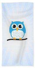 Sweet And Cute Owl Bath Towel