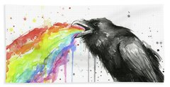 Raven Tastes The Rainbow Bath Towel