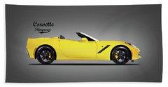 Corvette In Yellow Hand Towel