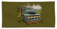 The Blue Classic Ford Truck Bath Towel