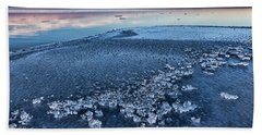 Hand Towel featuring the photograph Ice Chunks by Bill Kesler