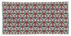 Sugar Skulls Pattern 2 Bath Towel