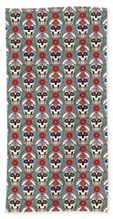 Sugar Skulls Pattern 2 Bath Towel