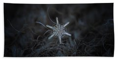 Bath Towel featuring the photograph Snowflake Photo - Steering Wheel by Alexey Kljatov