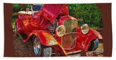 The Red Bell Roadster Bath Towel