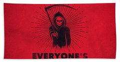 I Support Everyone's Troops Political Statement Grim Reaper  Bath Towel
