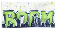 Seattle 12th Man Legion Of Boom Painting Hand Towel