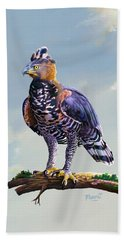 African Crowned Eagle  Bath Towel