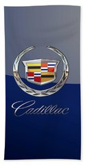Cadillac 3 D  Badge Special Edition On Blue Hand Towel